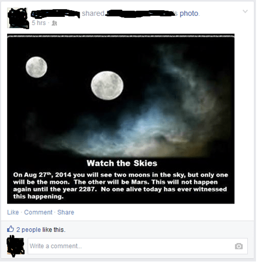 moon facepalm fake hoax Astronomy science failbook - 8300037888
