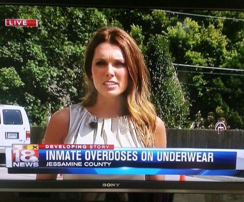 monday thru friday Local News underwear Chyron - 8300766208
