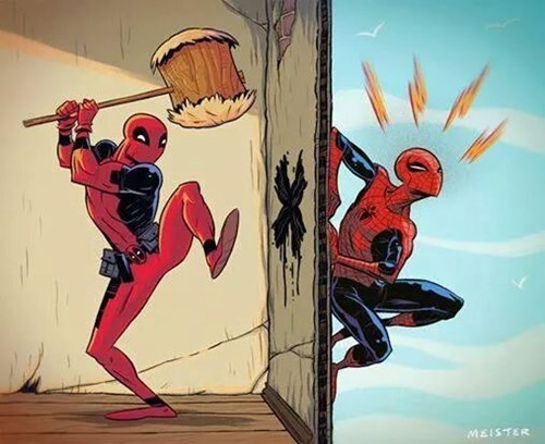 deadpool,Spider-Man
