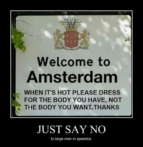 Amsterdam sign Speedos funny - 8300847872