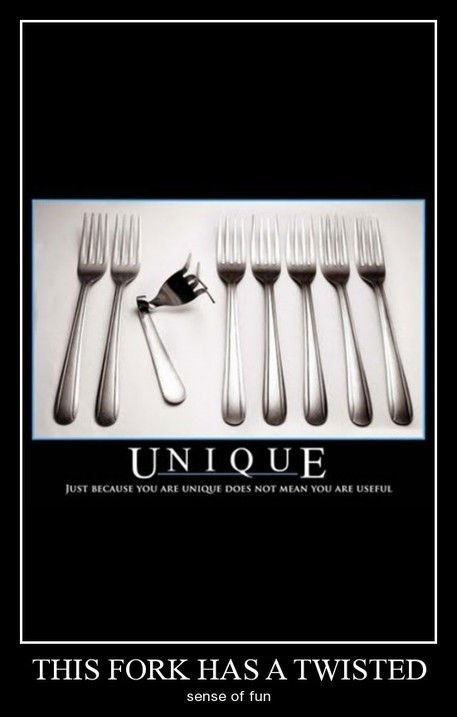 fork twisted unique funny - 8300848640