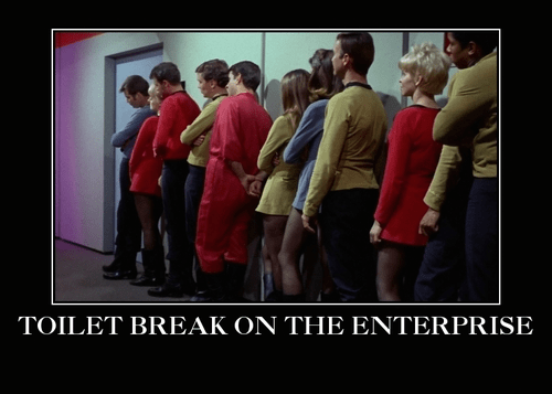 TV,Star Trek,bathroom break,funny