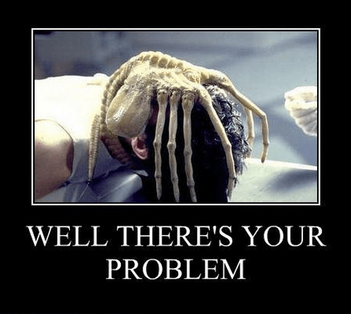 face hugger,eww,problem,funny