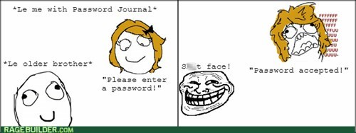 rage trollface brother password