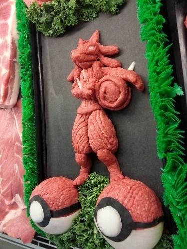 Pokémon IRL lucario aura sphere meat - 8300997632