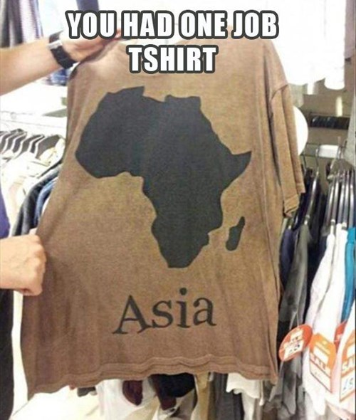 africa poorly dressed asia t shirts geography
