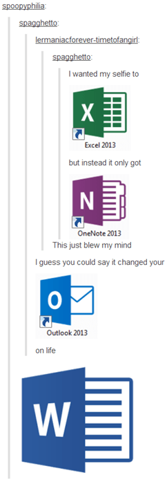tumblr puns Office microsoft failbook - 8301036288