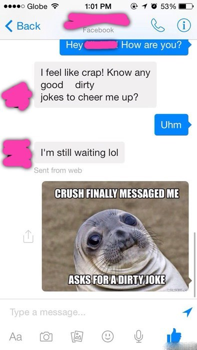 relationships awkward seal texting - 8301074176