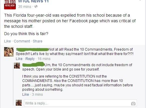 ten commandments bible facepalm constitution failbook - 8301607424