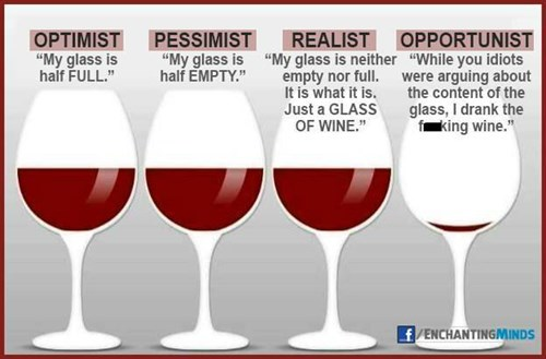 opportunity glasses wine funny pessimism - 8301838848