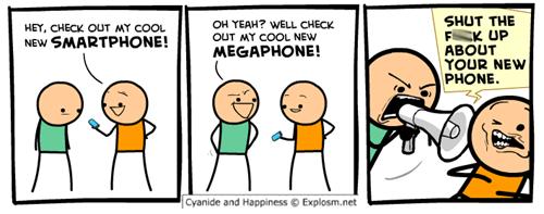 phones iPhones megaphone web comics - 8302046208