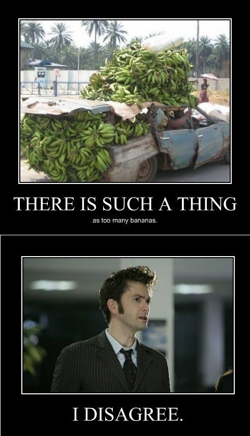 bananas,doctor who,funny,too much