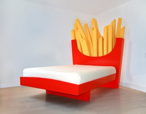 bed design french fries fast food