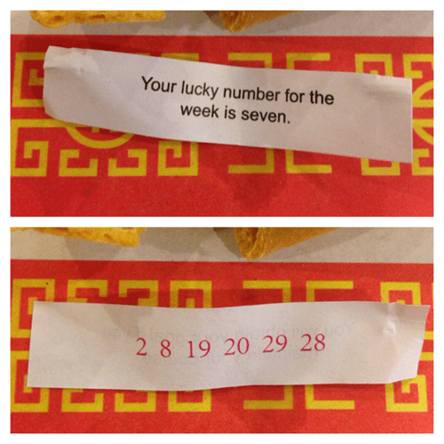 lucky numbers,fortune cookies