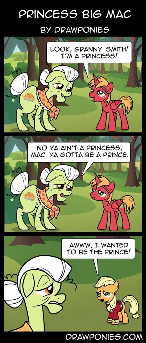 Princess Big Mac by Drawponies
