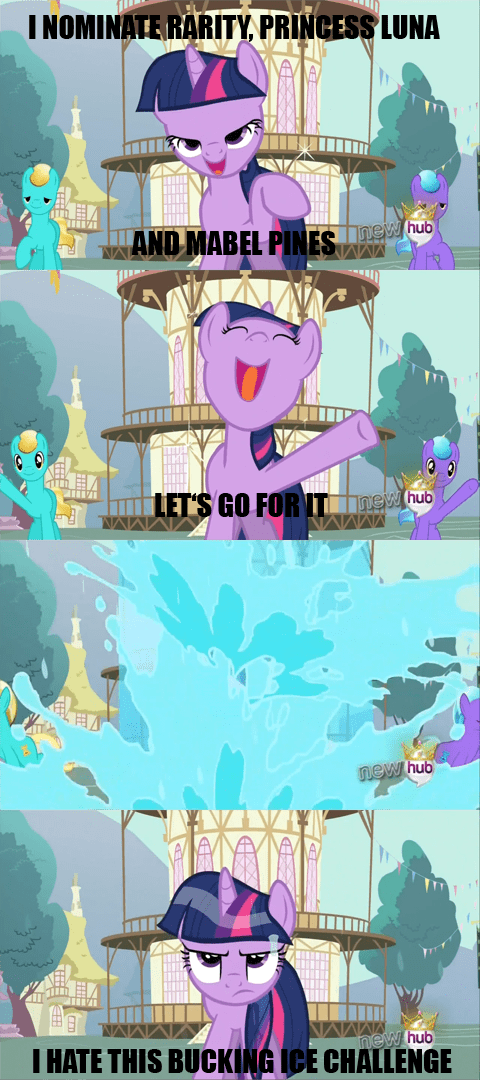 twilight sparkle ice bucket challenge dead meme - 8302452736