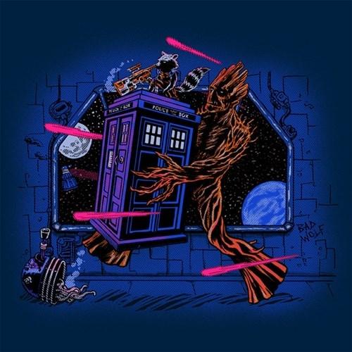 guardians of the galaxy tshirts tardis - 8302861056