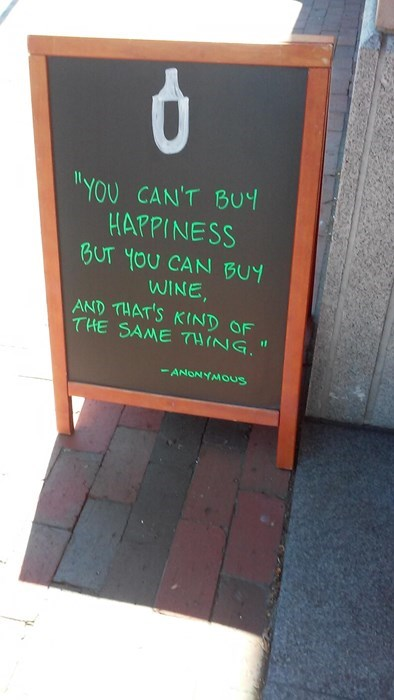 awesome funny happiness sign wine pub