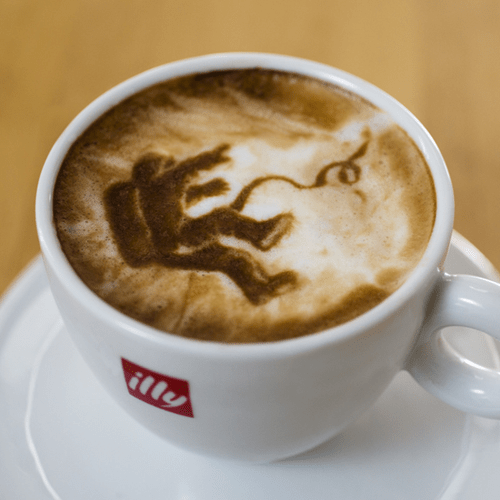 Gravity coffee latte art