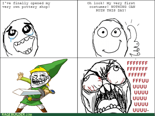 rage,trollface,link,legend of zelda,video games