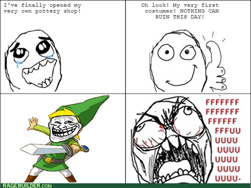 rage trollface link legend of zelda video games - 8303385344