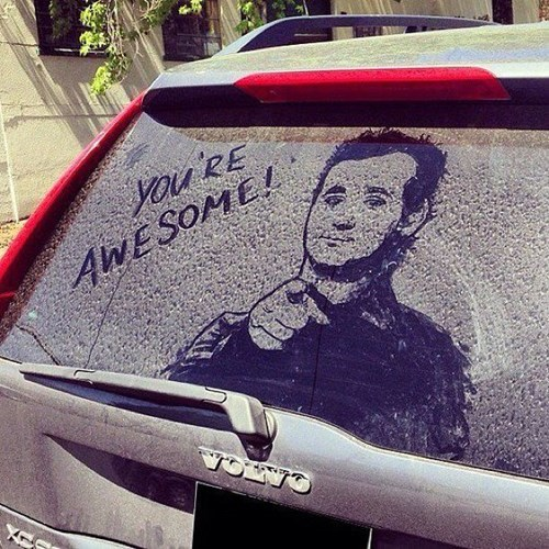 bill murray,cars,dirt art,dirty