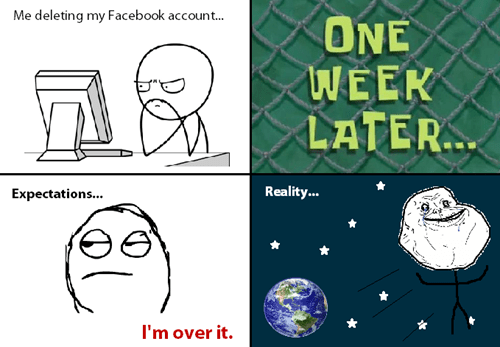 expectations vs reality forever alone facebook - 8304112128