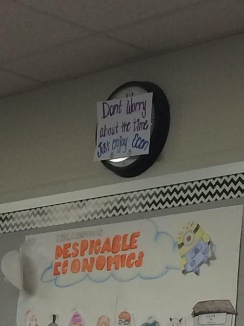 clock funny teachers sign - 8304400896