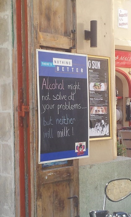 awesome,funny,signs,pub,white russians