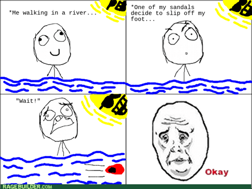 river,swimming,sandals,Okay