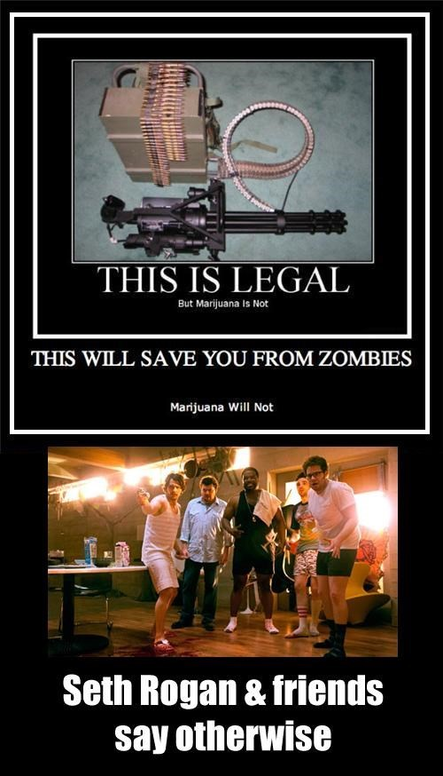 guns legal funny weed zombie wtf