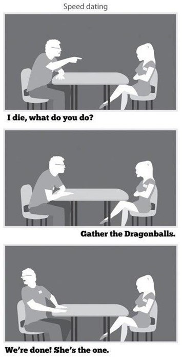 Dragon Ball Z,funny,speed dating