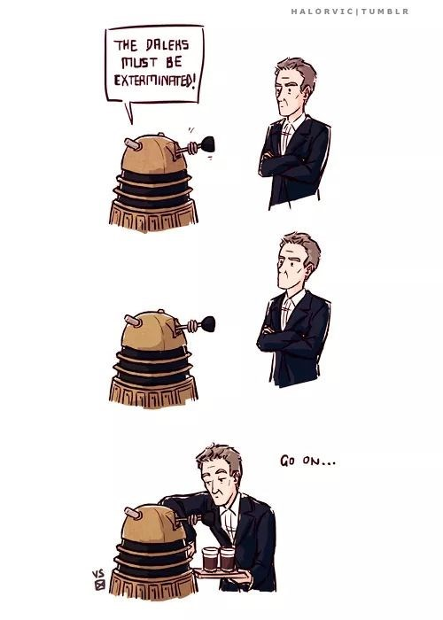 12th Doctor,daleks,web comics