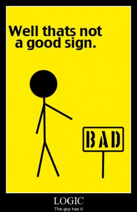 bad logic funny sign - 8306124544