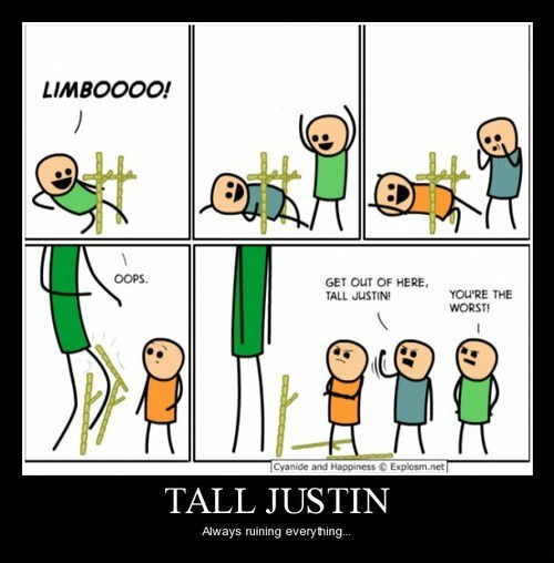 cyanide & happiness funny ruining tall justin - 8306126592