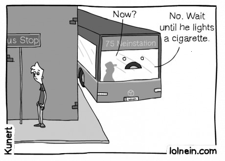 bus,public transportation,smoking,web comics