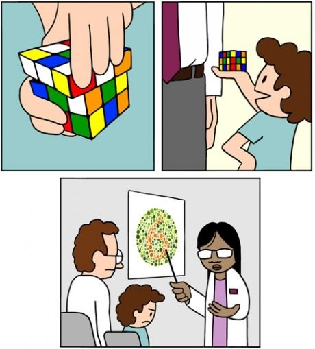 colorblind kids rubiks cube sad but true web comics - 8306459392