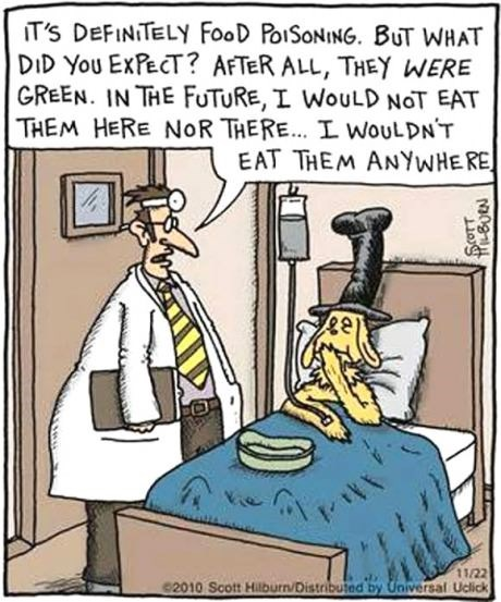 food,doctors,green eggs and ham,web comics
