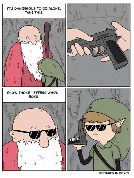 guns legend of zelda video games sunglasses web comics - 8306473216