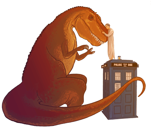 12th Doctor,dinosaurs,Fan Art