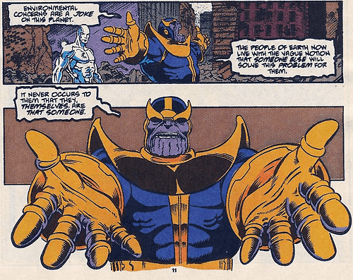 eco friendly Straight off the Page thanos - 8306589696