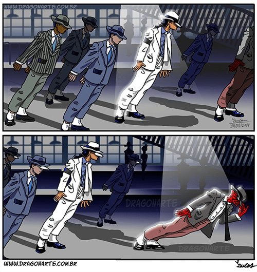 michael jackson Spider-Man web comics