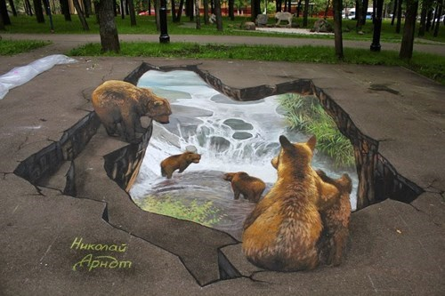 chalk art perspective illusion Street Art hacked irl - 8306631680