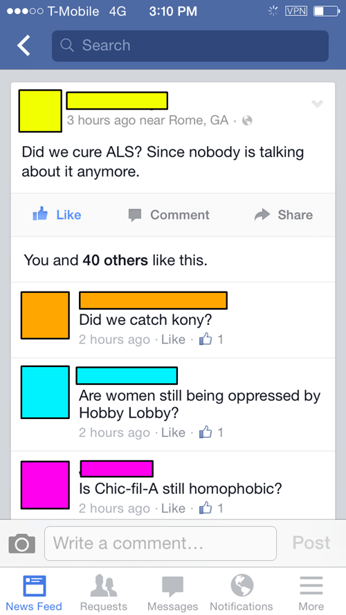 chic-fil-a Kony hobby lobby ice bucket challenge cynical failbook - 8306654208
