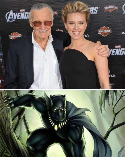 Black Widow black panther marvel stan lee - 8306673408