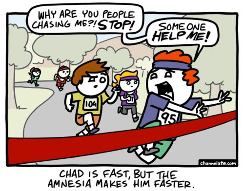 amnesia,marathon,running,web comics