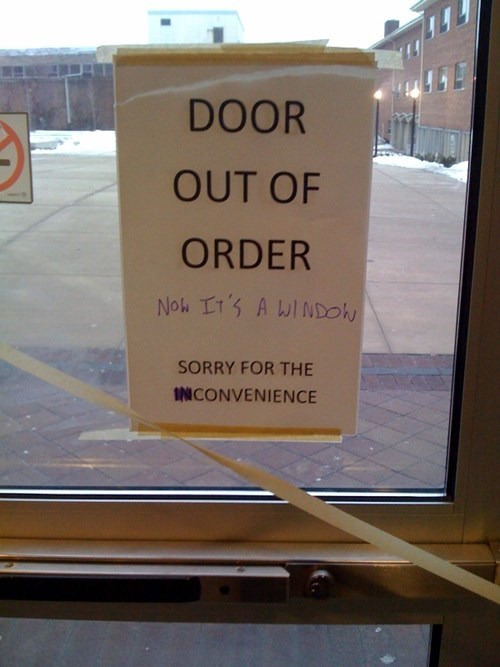 clever broken out of order sign temporarily stairs - 8306984704