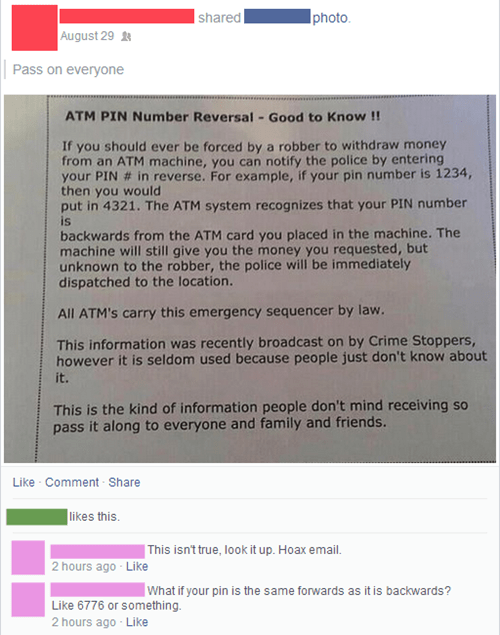 ATM fake hoax - 8306986496
