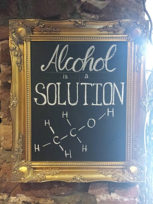 alcohol solution sign pub - 8306992896