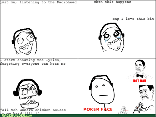Music,poker face,radiohead,headphones
